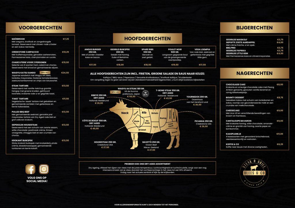 Menukaart Vlees & Co April 2021